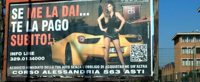Pubblicità sessista: da Asti a Roma i sindaci-balia oscurano i cartelloni