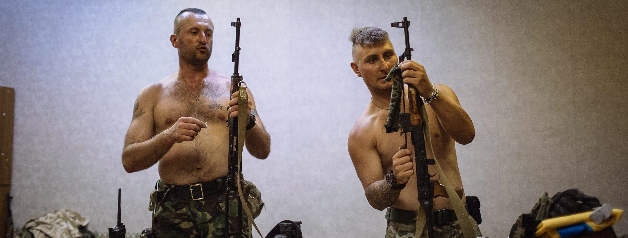 Volontari ucraini del battaglione Donbass