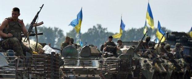 L'esercito ucraino in marcia