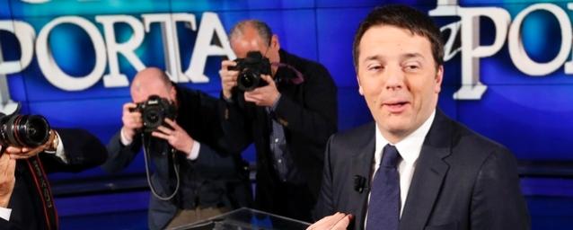"""Renzi a """"Porta a Porta"""": «Niente fondi per i pensionati». Speso tutto per gli 80 euro"""