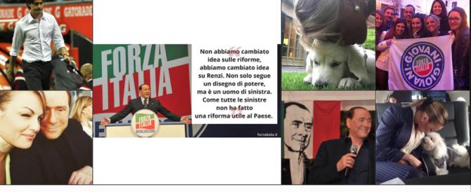 """I selfie di Silvio: Dudù, la Pascale e i """"pizzini"""" ironici contro Salvini (gallery)"""