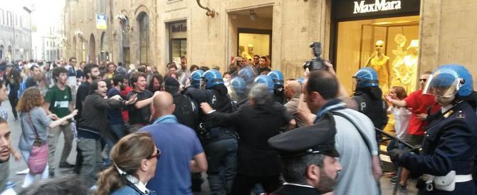 """La Meloni e Salvini agli antagonisti: """"Andate a farvi le canne nei centri sociali"""""""