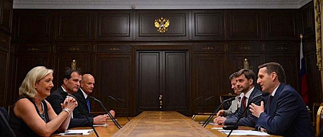 Marine Le Pen incontra il presidente della Duma Narishkin