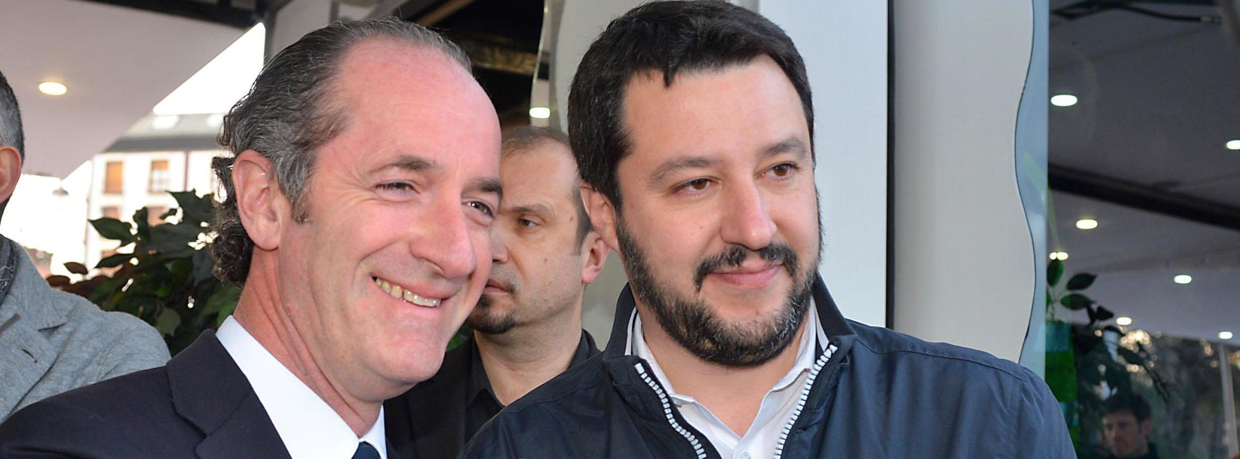 Luca Zaia con Matteo Salvini