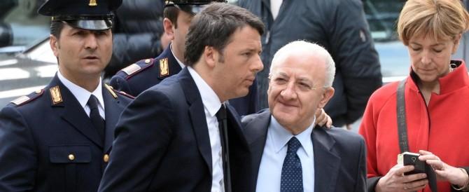 Imbarazzo di Renzi: in caso di vittoria di De Luca, Matteo dovrà sospenderlo