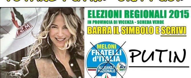 Regionali, in lista per il Veneto anche Putin. Ma è Adelina e non è parente