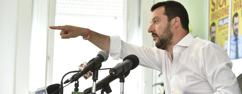 Matteo Salvini alla conferenza stampa