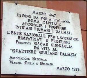Incendiata a Roma la sede dell'Associazione Venezia Giulia e Dalmazia