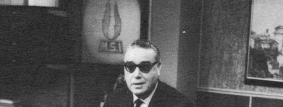 Arturo Michelini a una Tribuna politica nel 1960