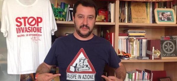 """Salvini attacca: """"Grillo vuole meno clandestini, ma i suoi son di sinistra"""""""