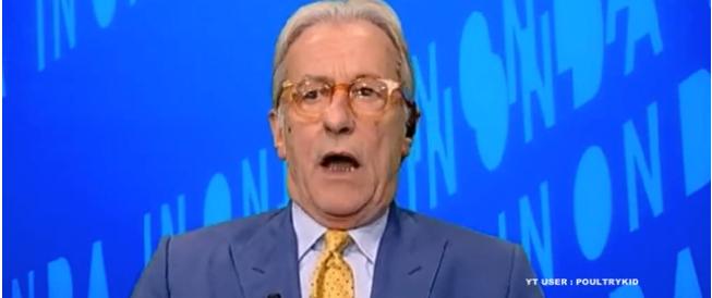 Vittorio Feltri scatenato in tv: «Fatemi parlare, mi avete rotto le…» (video)