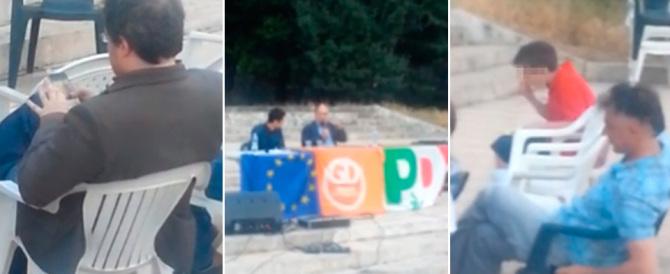 Alla festa dell'Unità il pezzo grosso del Pd parla e nessuno lo ascolta… (video)