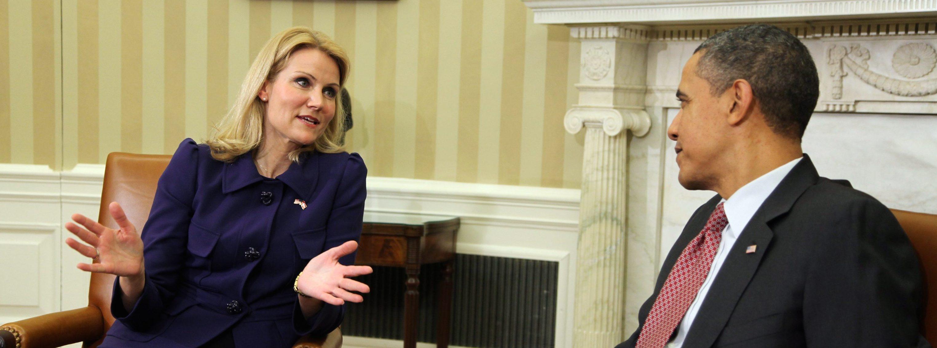 Helle Thorning-Schmidt con Barack Obama l'anno scorso