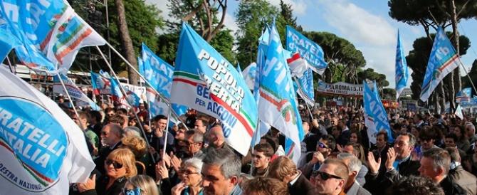 Centrodestra unito al Senato contro Renzi: passa la linea Salvini-Meloni