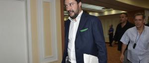 Salvini in giacca parla ai giovani di Confindustria: «Corro per vincere»