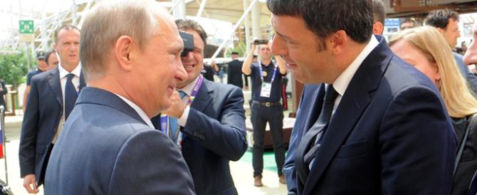 Putin a Renzi: «Le sanzioni alla Russia danneggiano soprattutto gli italiani»