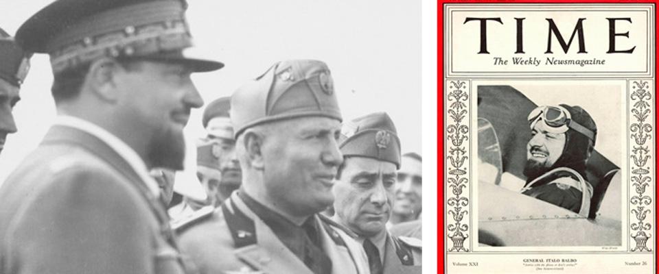 Italo Balbo con Benito Mussolini