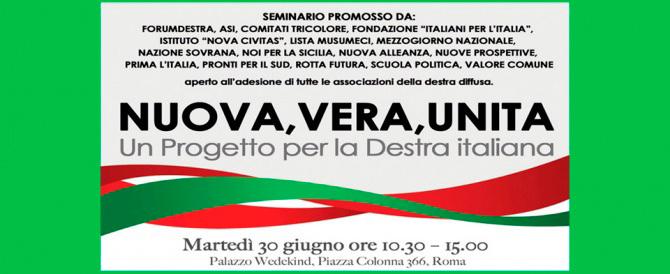«Rifondiamo la destra italiana»: al convegno di Roma inizia il cammino