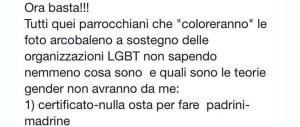 Foto pro-gay su Fb: prete bacchetta i parrocchiani e diventa idolo del web