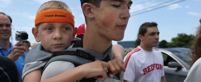 Usa, Hunter ritenta l'avventura con il suo fratellino malato sulle spalle