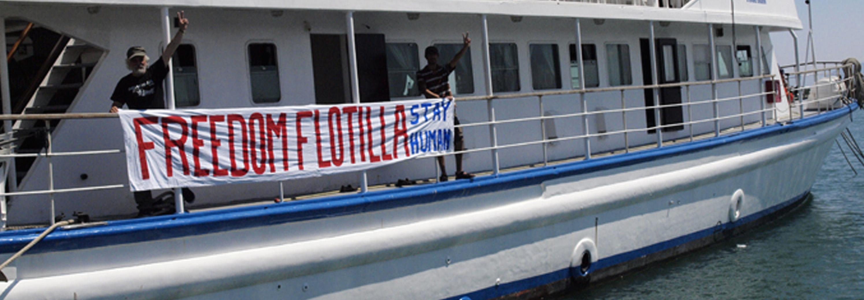 Una nave della Freedom Flotilla