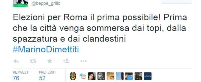 Tweet di Grillo contro Marino, il Pd lo accusa di razzismo e lui rettifica