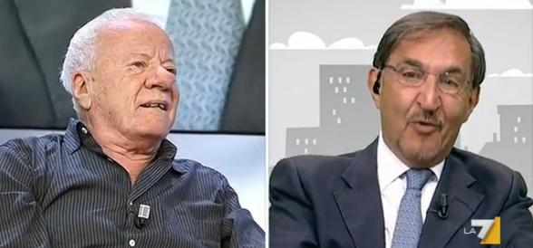 Bonito Oliva lo provoca, La Russa lo zittisce: «Sei un idiota» (video)