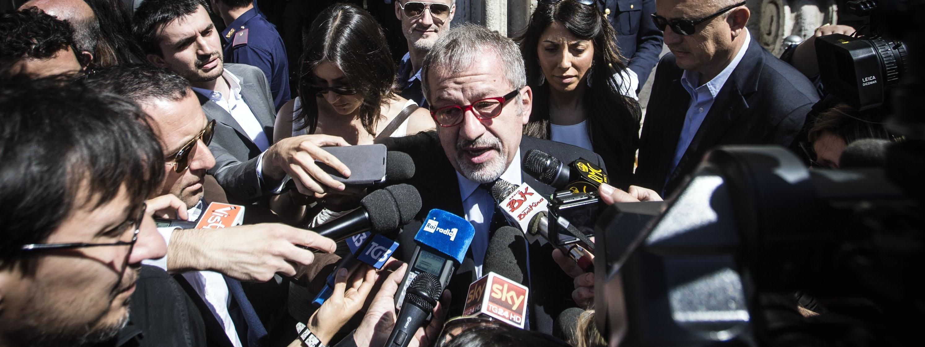 Roberto Maroni al termine del vertice sull'immigrazione