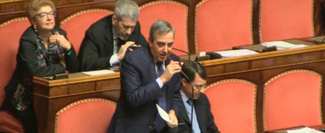 Gasparri: «Renzi è un incapace. È inadeguato e pericoloso per l'Italia»