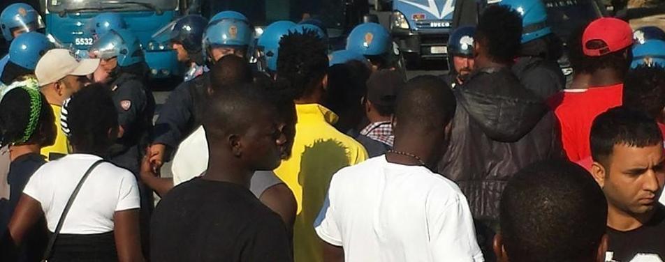 Migranti a Castelnuovo di Porto vicino Roma