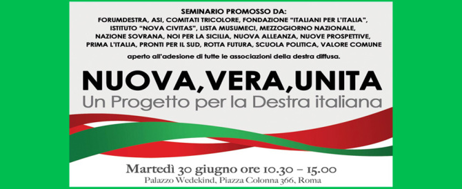 ForumDestra, seminario con quindici sigle per una #destraunita