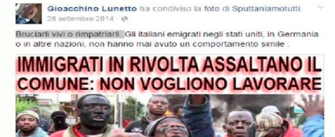 Scrive su Fb: «Migranti, bruciarli vivi o rimpatriarli». Denunciato un poliziotto