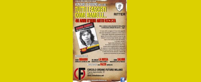 """""""40 anni di odio antifascista"""": a Milano incontro in memoria di Sergio Ramelli"""
