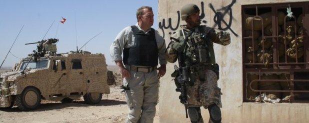 Il premier danese Lars Lokke Rasmussen in Afghanistan