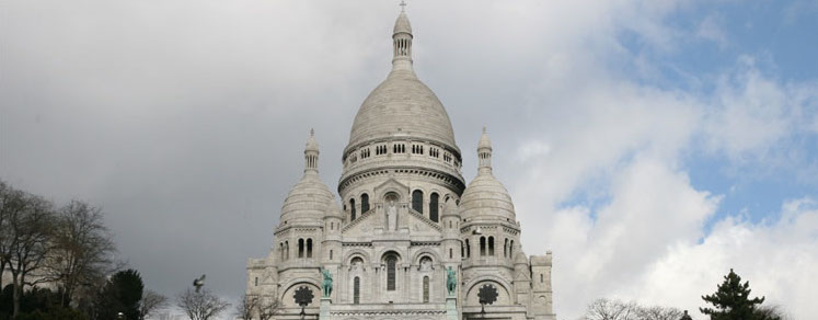 La chiesa del Sacro Cuore a Parigi