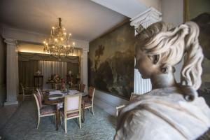 Una delle stanze della villa