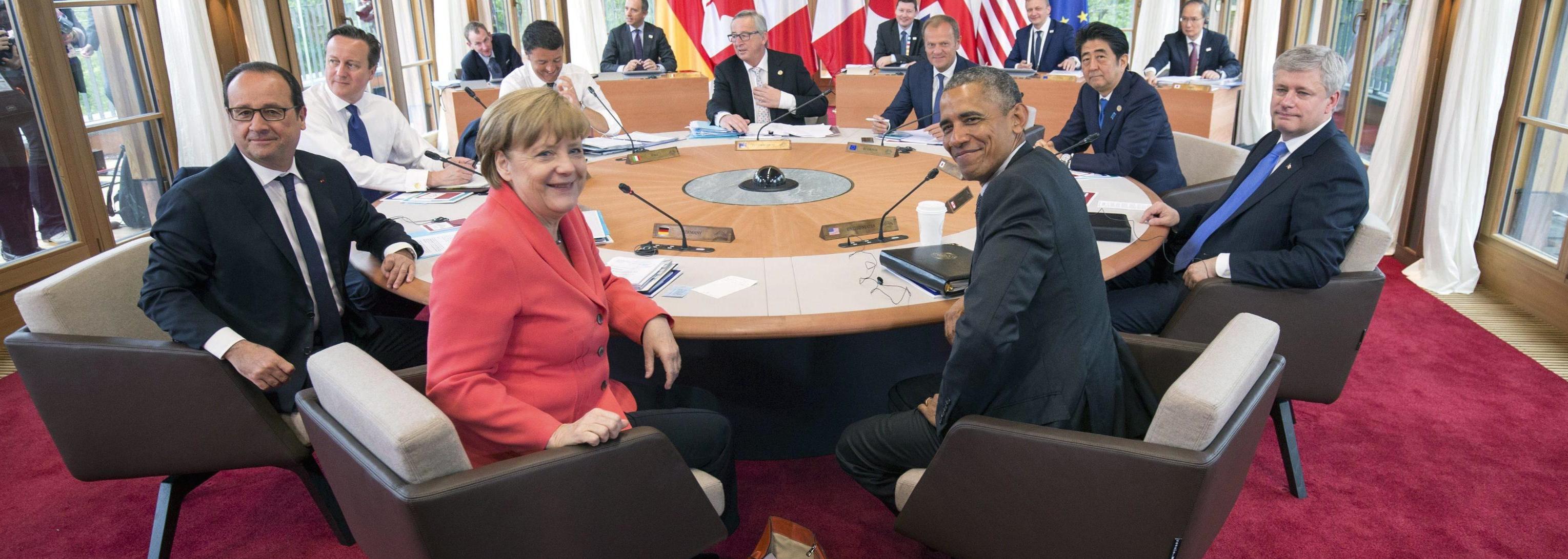 Foto di gruppo del G7