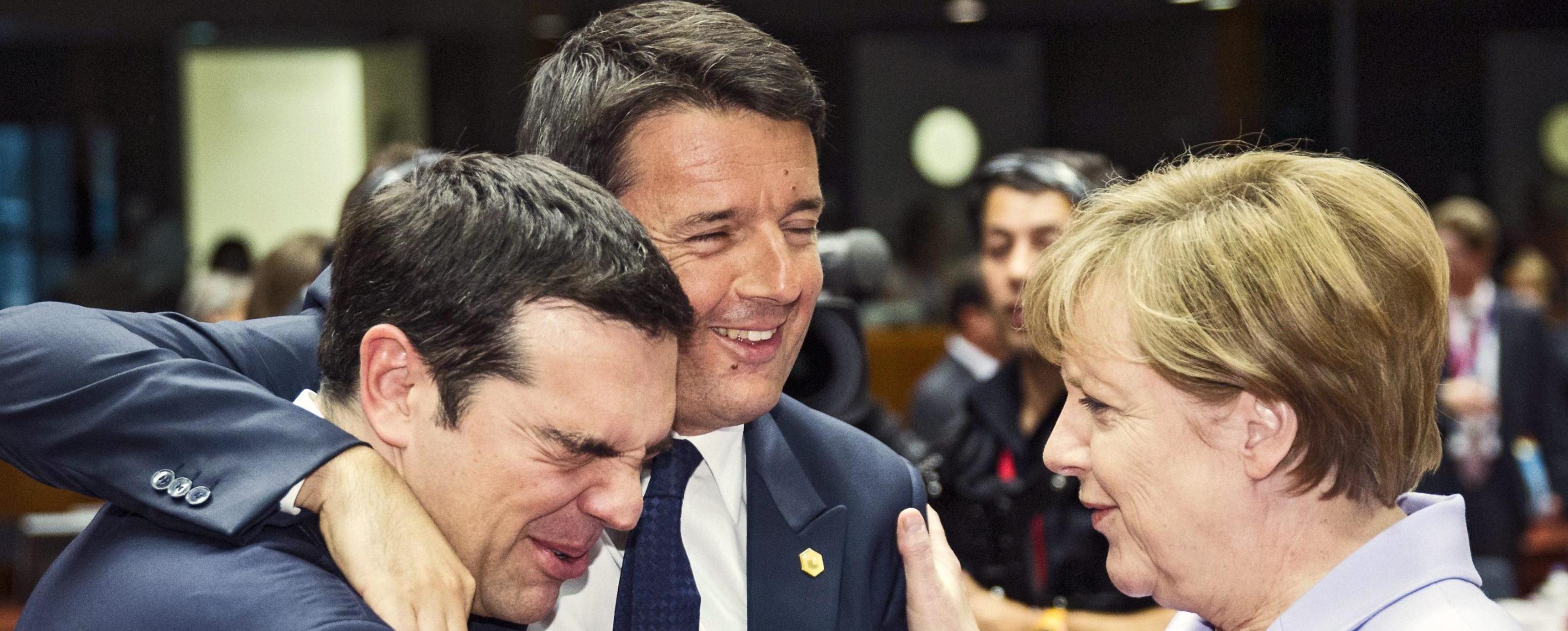 Tsipras, Renzi e Merkel al vertice di Bruxelles