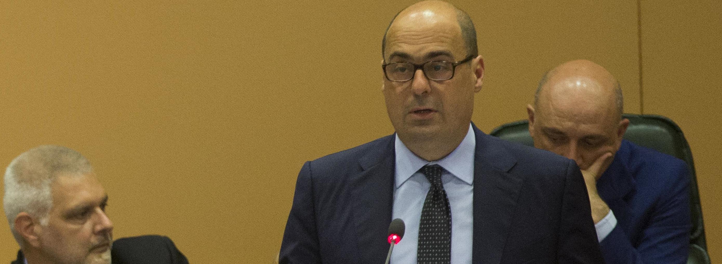 Nicola Zingaretti durante il suo intervento in Regione