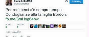 Morte di Bordon, la gaffe necrofila di Giulia Grillo (M5S): «Si pentirà…»