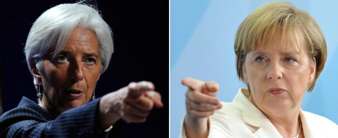 """Merkel e Lagarde, sfida tra le """"lady di ferro"""" sul debito greco"""