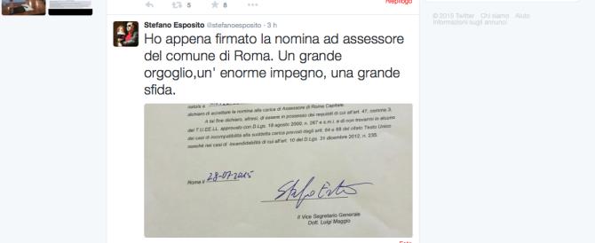 Roma, l'assessore Esposito si presenta con uno strafalcione di italiano