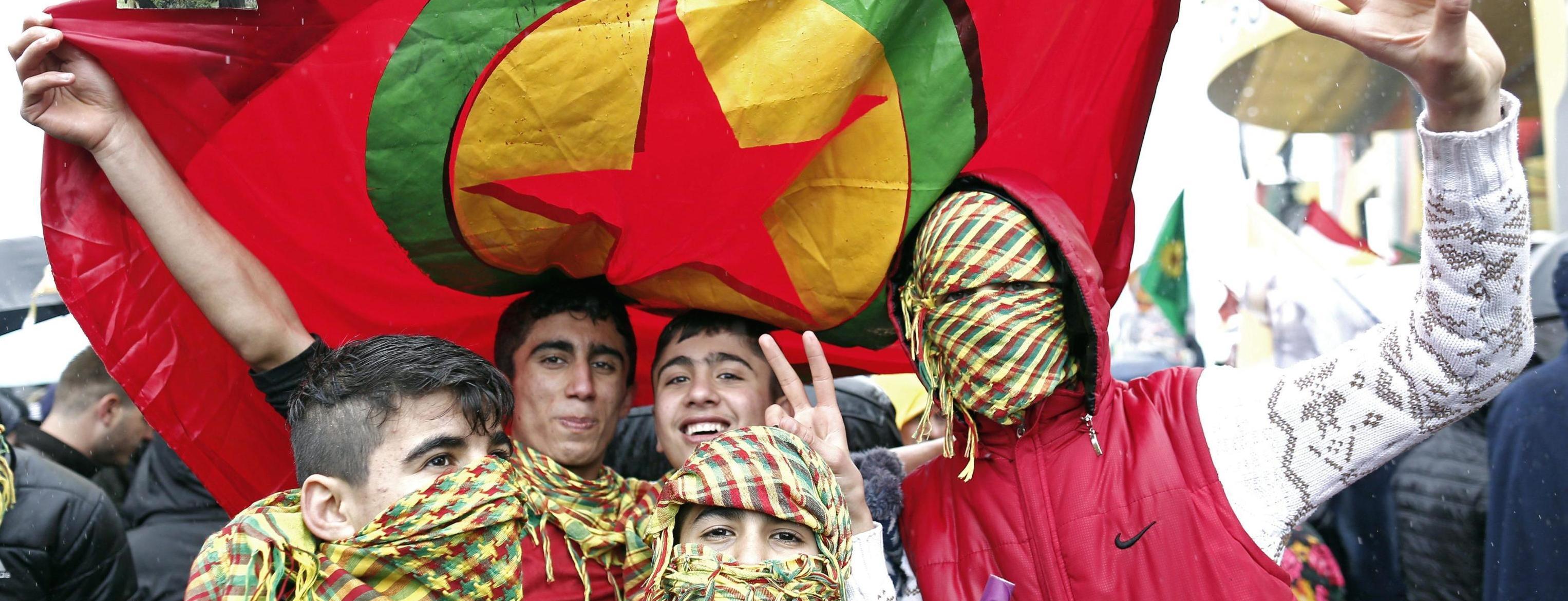 Supporter del Partito dei Lavoratori curdo