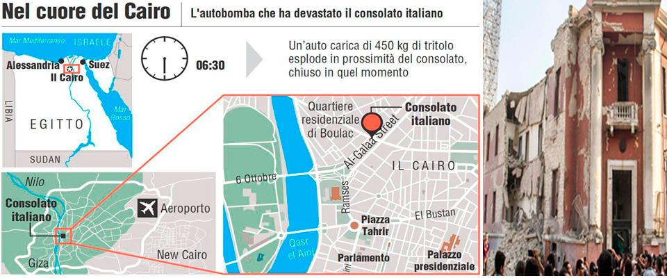 Attentato al consolato italiano al Cairo