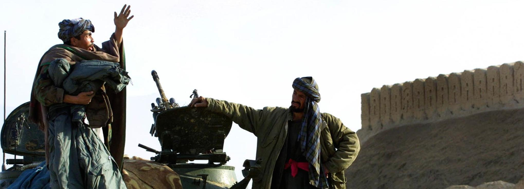 Combattenti afghani