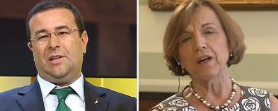 Il leghista contro la Fornero in tv: sei un'immagine lacrimosa. E lei se ne va