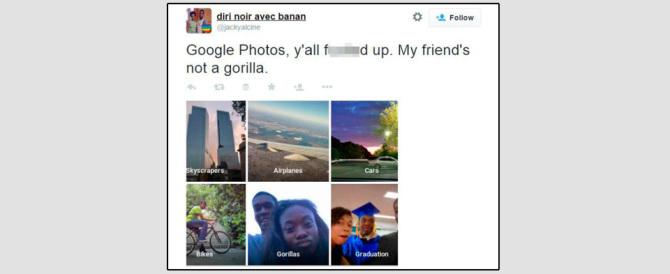 Gaffe clamorosa di Google: etichetta come «gorilla» due persone di colore