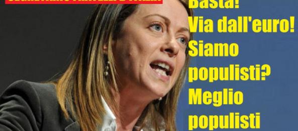 Meloni: «Greci eroici». Gasparri: «Se avessero ascoltato Berlusconi…»