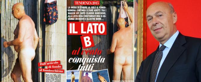 """Signorini mette Paolo Mieli nudo su """"Chi"""": è la fine di un'epoca"""
