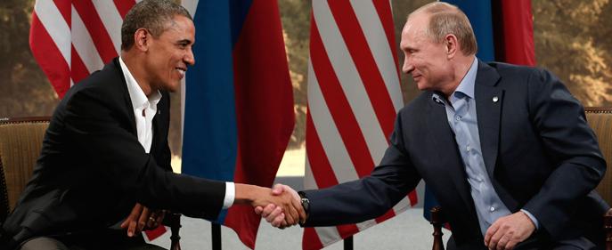 Stretta di mano Obama-Putin
